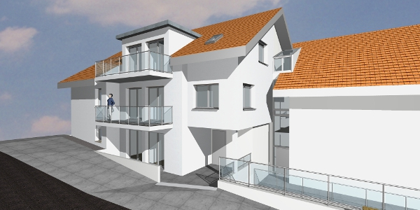 Neubau/Anbau 3-Familienhaus mit Tiefgarage