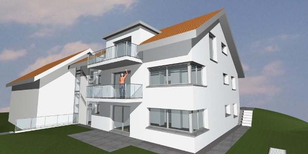 Je 2 Balkone pro Whg. bieten mehr Lebensqualität